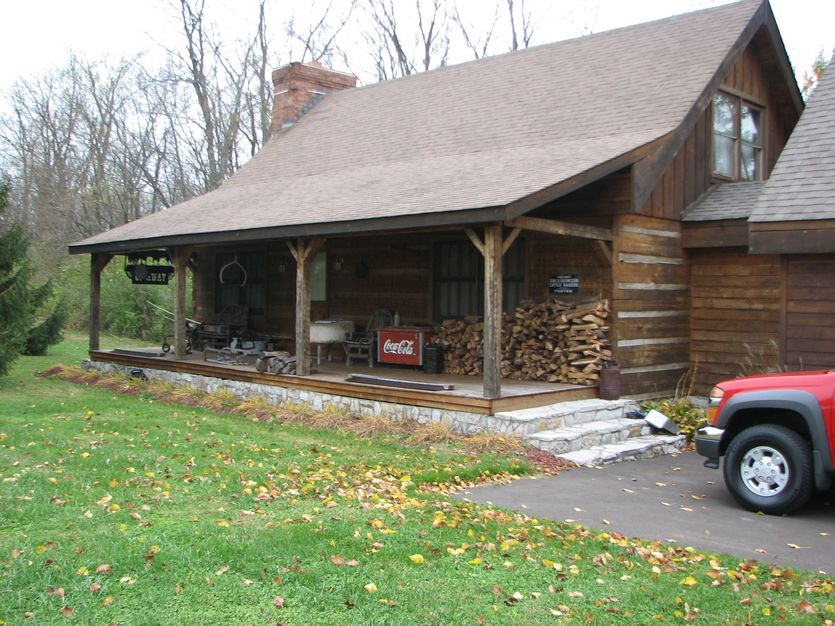 Hunting Cabin Home Project From Old Kentucky Logs Concrete